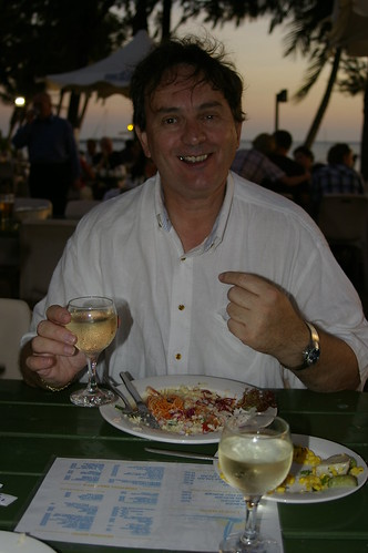 A meal at the  Darwin Sailing Club