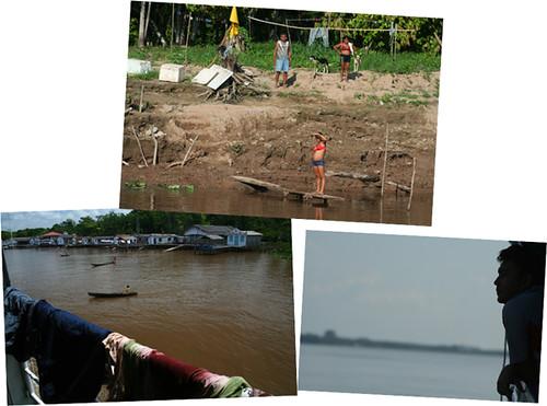 Vida en el río amazonas