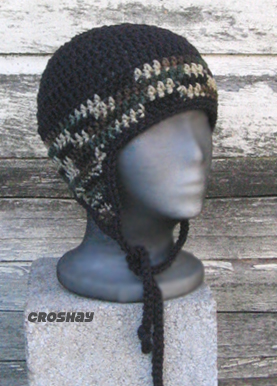 Croshay Earflap Hat crochet pattern is available at the website now!