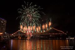 Fireworks on the Story Bridge 1