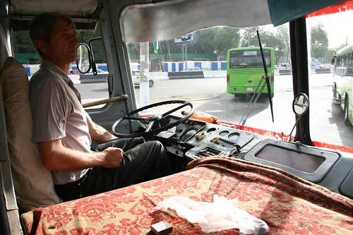 The Life of a Bus Driver, Tashkent - Uzbekistan