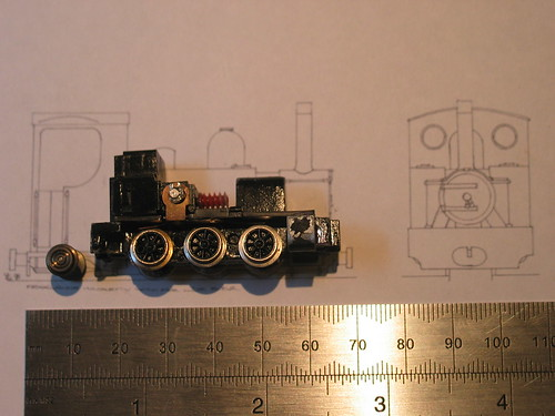 Lifelike 0-6-0T chassis on drawing