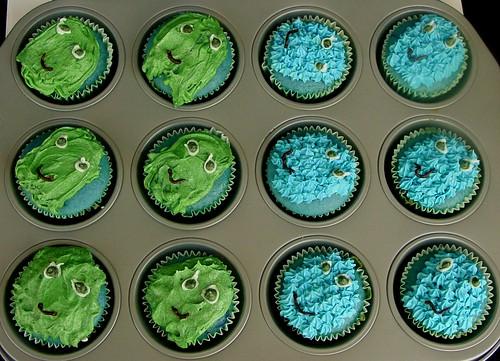 Pac Man Moster Cupcakdes