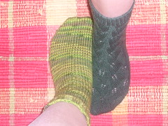 Universal Sock and Embossed Leaves Sock