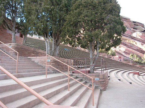 Red Rocks Amphitheater in spring time