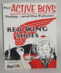 Red Wing Shoes Space sign