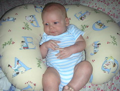 Matthew in his boppy - 9/22/06