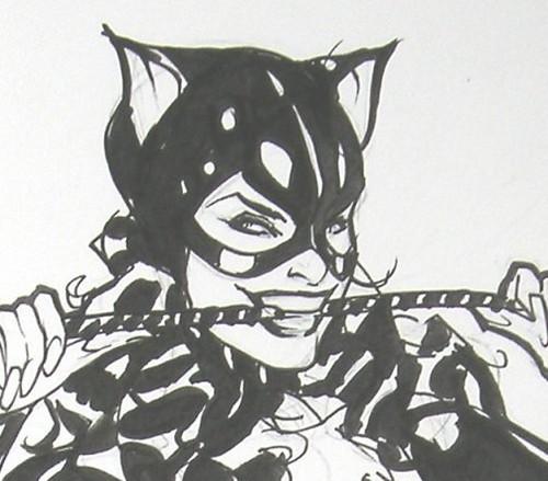 Detalle de Catwoman (Adam Hughes)