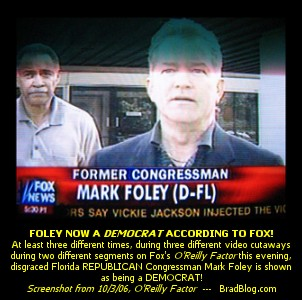 Fox News States Mark Foley Democrat