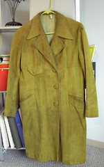 Green Suede Coat