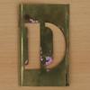 Brass Stencil Letter D
