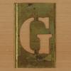 Brass Stencil Letter G