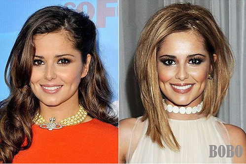 Cheryl asymmetry bob hair