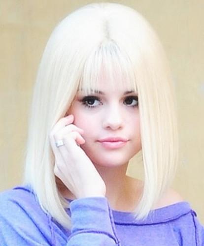 Selena Gomez straight Bob Hairstyle