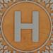 John Crane Classic Block Letter H