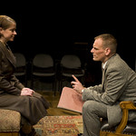 Kate Fry and Mark L. Montgomery in THE LETTERS at Writers' Theatre. Photo by Michael Brosilow.