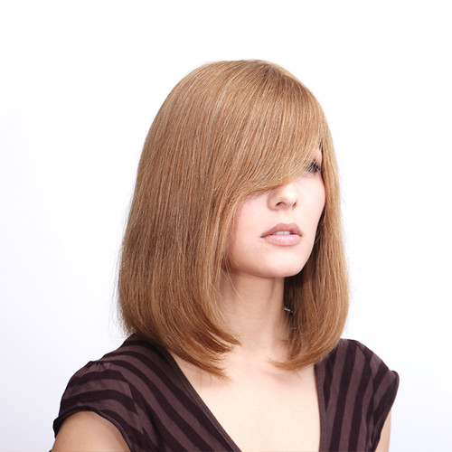Blended Hair Wigs Human Hair And Synthetic Blend