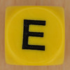 WORDS dice letter E