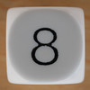 White Dice Number 8