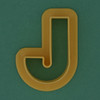 Pastry Cutter Letter J