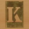 Brass Stencil Letter K
