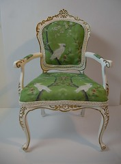 1.6 Scale Custom Chair photo by Ken Haseltine Regent Miniatures