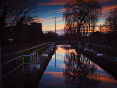 Hertford Canal Lock Sunset photo by The Nick Page
