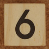 Calendar Wood Block number 6