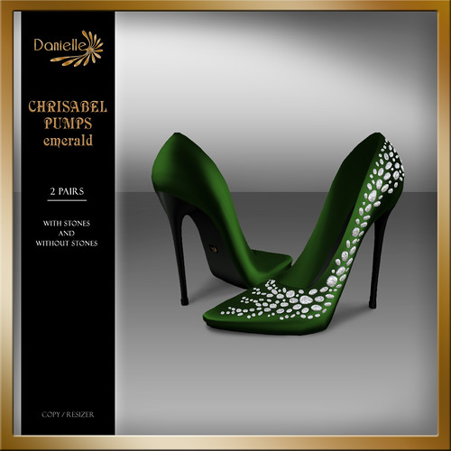 DANIELLE Christabel Pumps Emerald