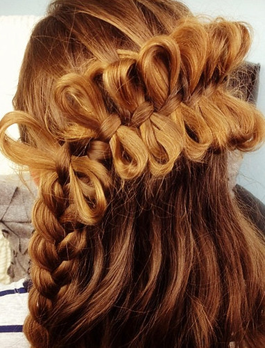 Tremendous Super Cute Bowed Hair Hairstyles Uniwigs Official Blog Hairstyles For Women Draintrainus