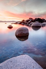 Lake Tahoe - Beach Sunset photo by Blu3ness