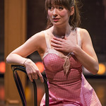 Tiffany Topol (Charity) in SWEET CHARITY at Writers Theatre. Photo by Michael Brosilow.
