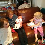 Two birthday girls and new baby<br/>19 Jan 2013