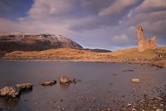 Beinn Gharbh and Ardvreck Castle. photo by Gordie Broon.