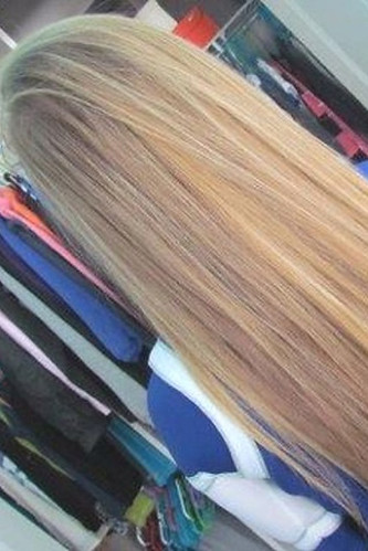 Beautiful straight blonde hair