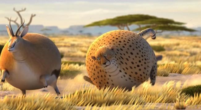 圆滚滚的非洲动物