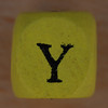 Coloured bead letter Y