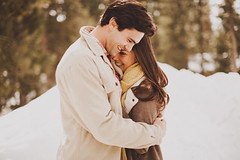 McCall Winter Engagement photo by Sara K Byrne
