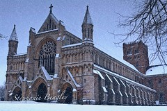 Low Res of St Albans Abbey in the midst of snow photo by Stephanie Beagley