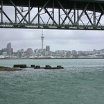 Auckland City from Northcote Wharf