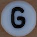 White Bead letter G