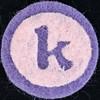 Felt letter k