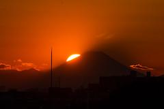 Sunset on Mt. FUJI (Matsudo, Chiba, Japan) photo by t-mizo