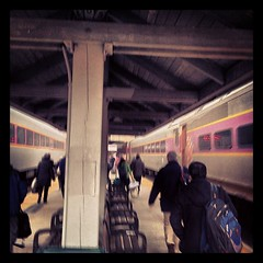 #mysky Morning travelers like black sheep II #Boston #MBTA photo by MassRusky