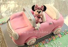 Minnie Mouse Car Cake photo by Party Cakes By Samantha