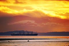 Ocean View from Iona Beach at Sunset photo by TOTORORO.RORO