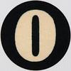 Vintage Sticker number zero