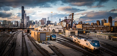 Sunset at the Rail Yards photo by Chris Smith/Out of Chicago