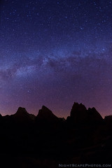 "Milky Way over the Patriarchs - Zion NP photo by IronRodArt - Royce Bair (""Star Shooter"")"