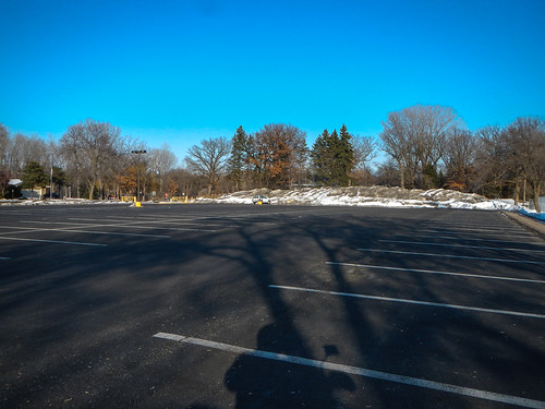 Empty parking lot for practicing